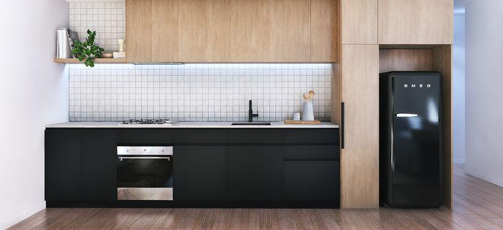 halcyon apartments brunswick east modern kitchen
