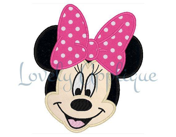 Minnie Mouse Applique Design Instant Download By