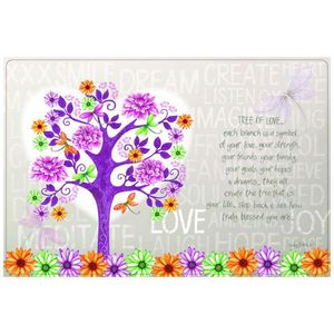 Lisa Pollock Tree of love plastic placemats, set of 4