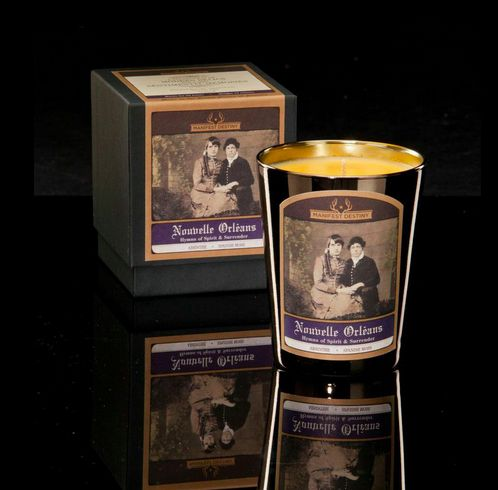 10 best nouvelle orleans hymns of spirit and surrender images on 12 oz soy blend placed in a metalized glass votive and wrapped in black tissue malvernweather Image collections