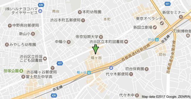 〒151-0072 東京都渋谷区幡ヶ谷2丁目47−12の地図
