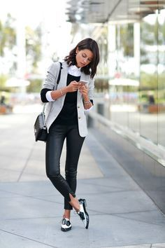 oxfords with edgy outfit