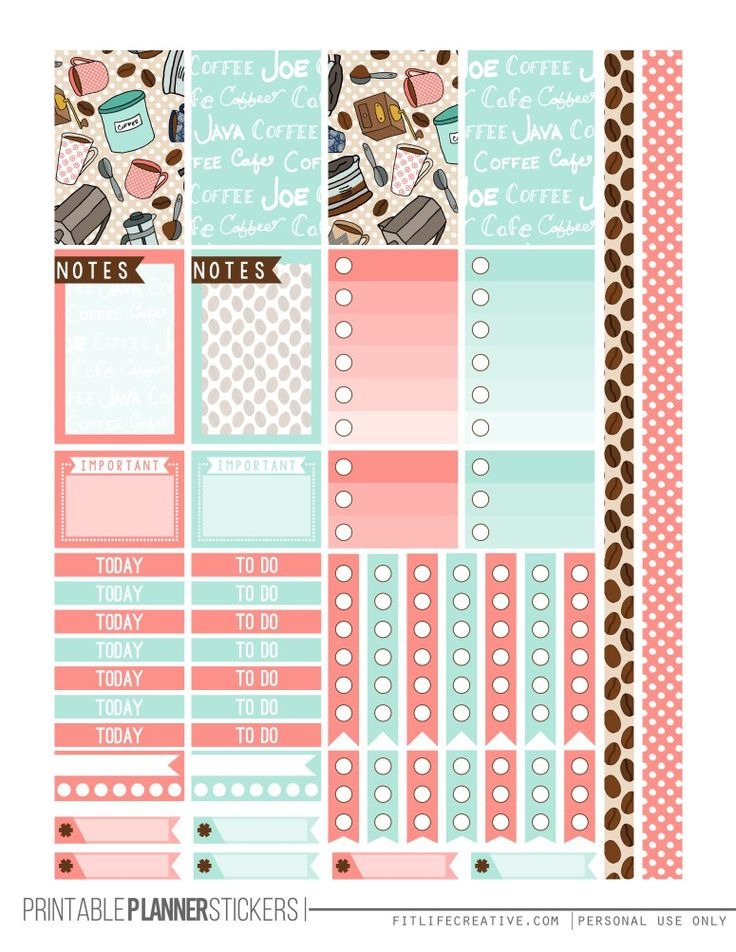FREE printable BUT FIRST COFFEE Planner Printable Stickers ...