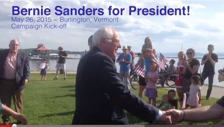 BERNIE SANDERS announces he is running for PRESIDENT OF THE USA  mini video CLICK HERE  https://www.youtube.com/watch?v=i6cpO-8zBmw