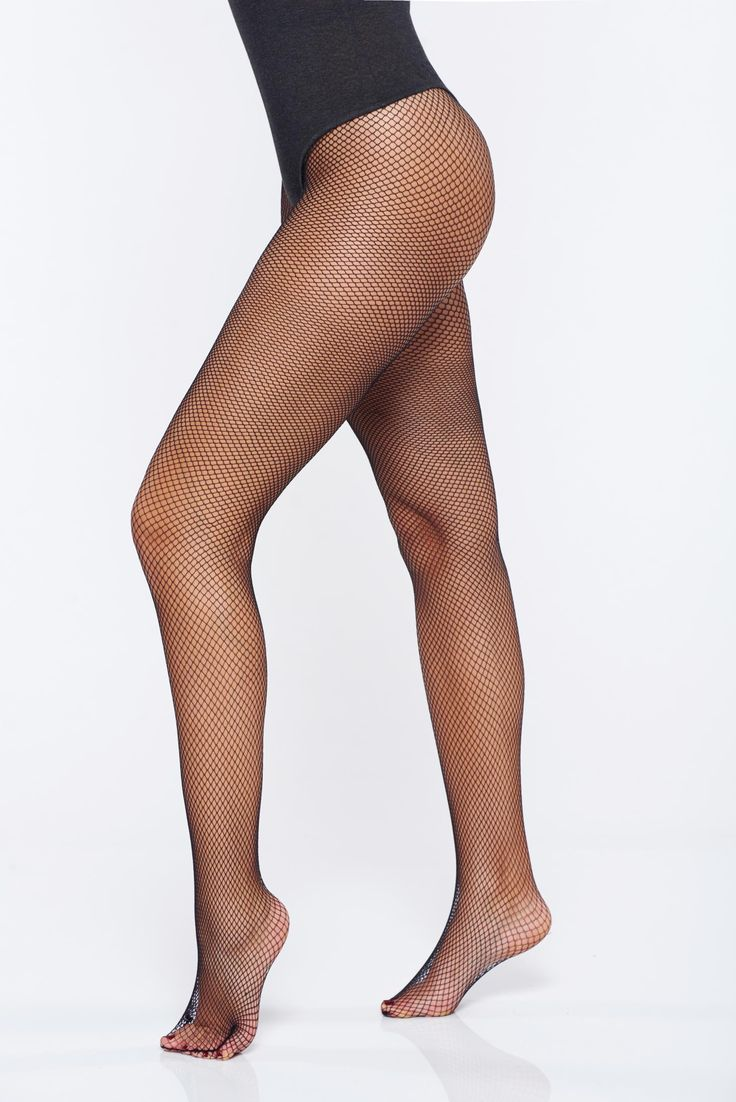 Black fitted heel net stockings women`s tights, fitted heel, not reinforced toe, net stockings