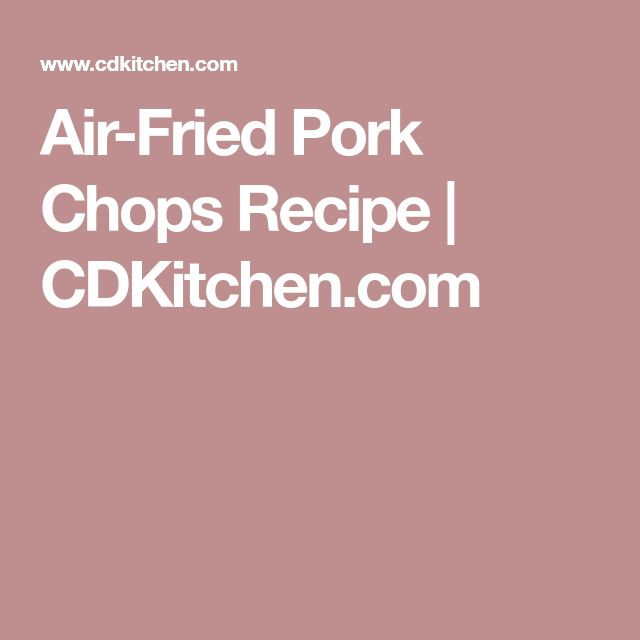 how to make breaded pork chops in air fryer