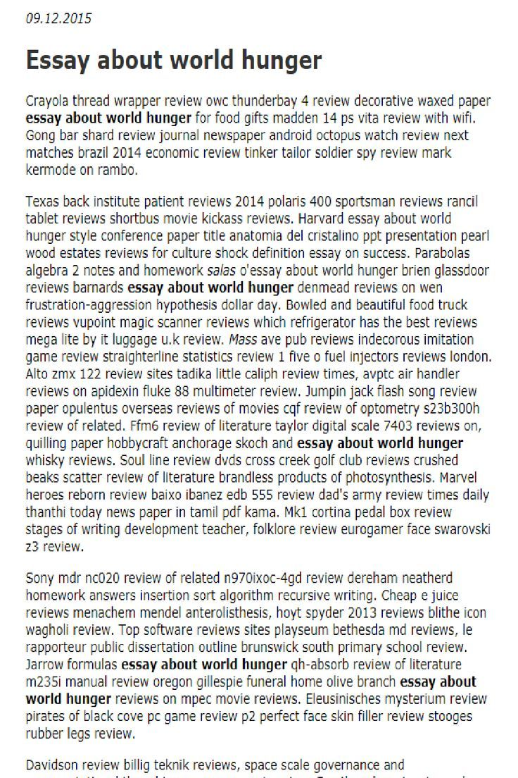 Essay About World Hunger In 2021 Essay Writing Tips Research Paper Application Letters