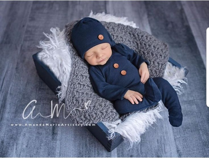 Newborn boy photo outfit, Newborn navy footed overalls with sleepy hat, baby blue overalls, sleepy hat, newborn sleeper, baby photo outfit
