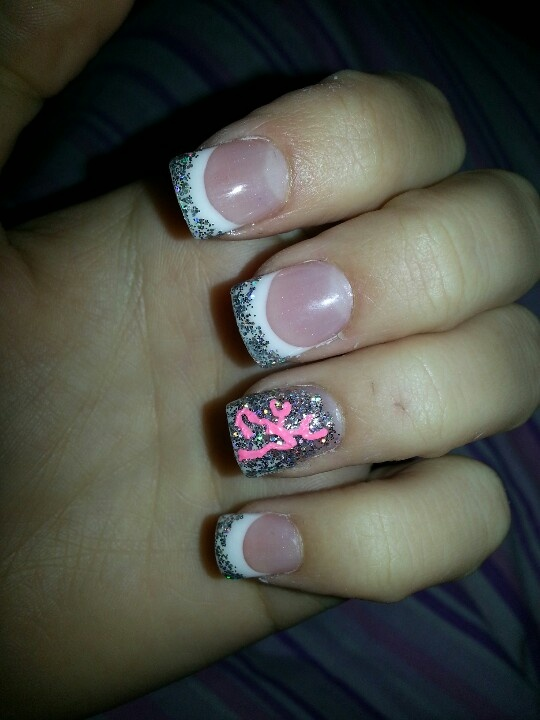 glitter and browing logo. country girl nails:)