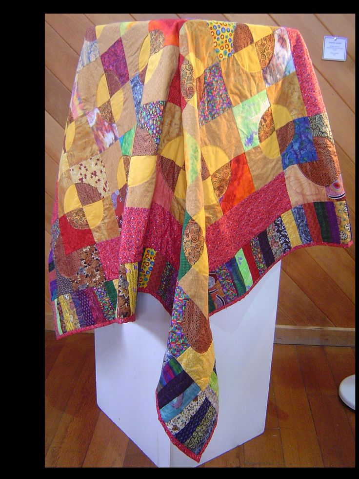 My Sunrise Sunset quilt (just to prove to myself I could sew curved seams)