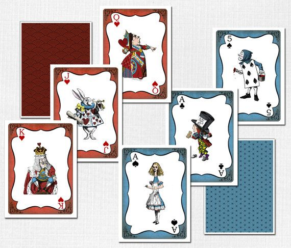Alice in Wonderland Giant Cards INSTANT par SassabyParties sur Etsy