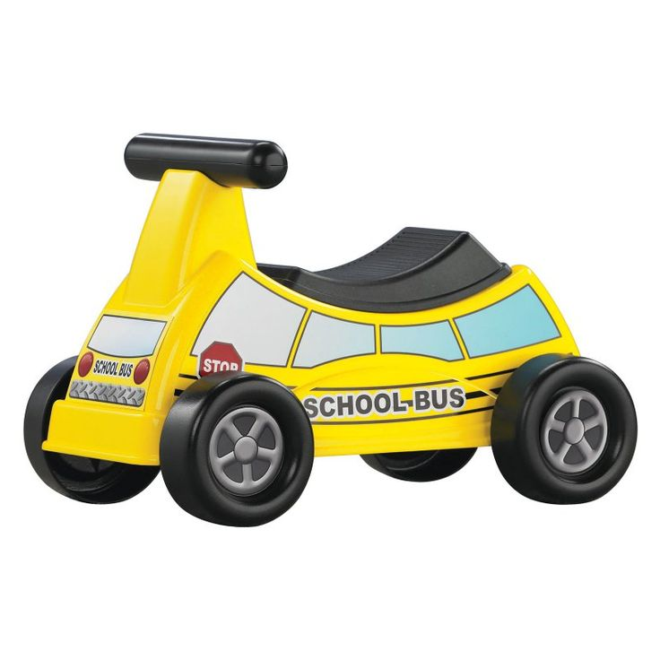 American Plastic Toys School Bus Riding Push Toy - 30010