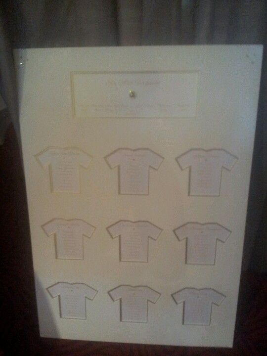 Football themed table plan with class!  Available at www.facebook.com/thatspecialdaystationery