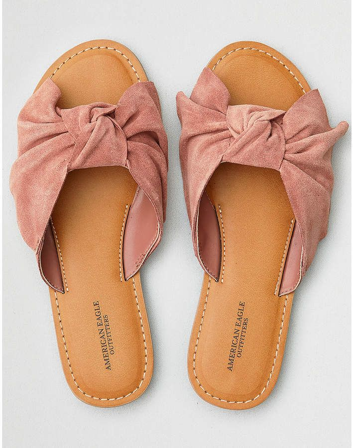 7b90cb865 Lots of cute new sandals for spring and summer. Aeo AEO Oversized Bow Slide  Sandal  aff