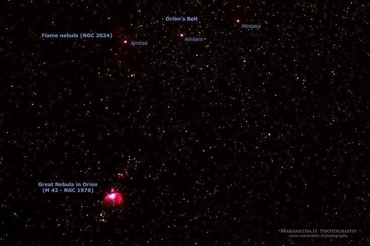 22/02/2014 - 22:31 Orion Constellation - Cintura e Grande Nebulosa di Orione in Orione (M 42 - NGC 1976)