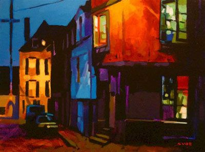 """""""One Night in Brittany"""" 12 x 16 Acrylic on Panel"""