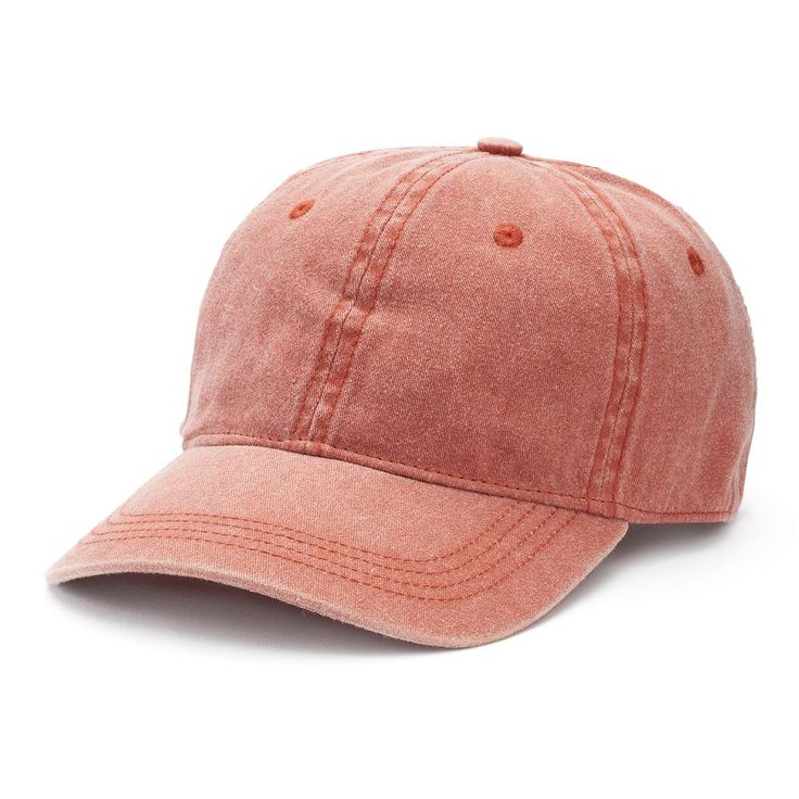 Women's Mudd® Washed Baseball Hat, Red/Coppr (Rust/Coppr)