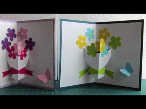 Comment créer une carte pop-up bouquet de fleurs pour la fête des mères ? - YouTube
