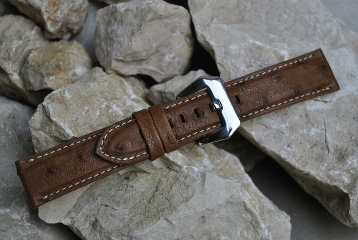 Omega Watch Handmade & Custom Made Ostrich Leather Strap Available On Order in Multiple Lug Sizes by ChristianStraps on Etsy