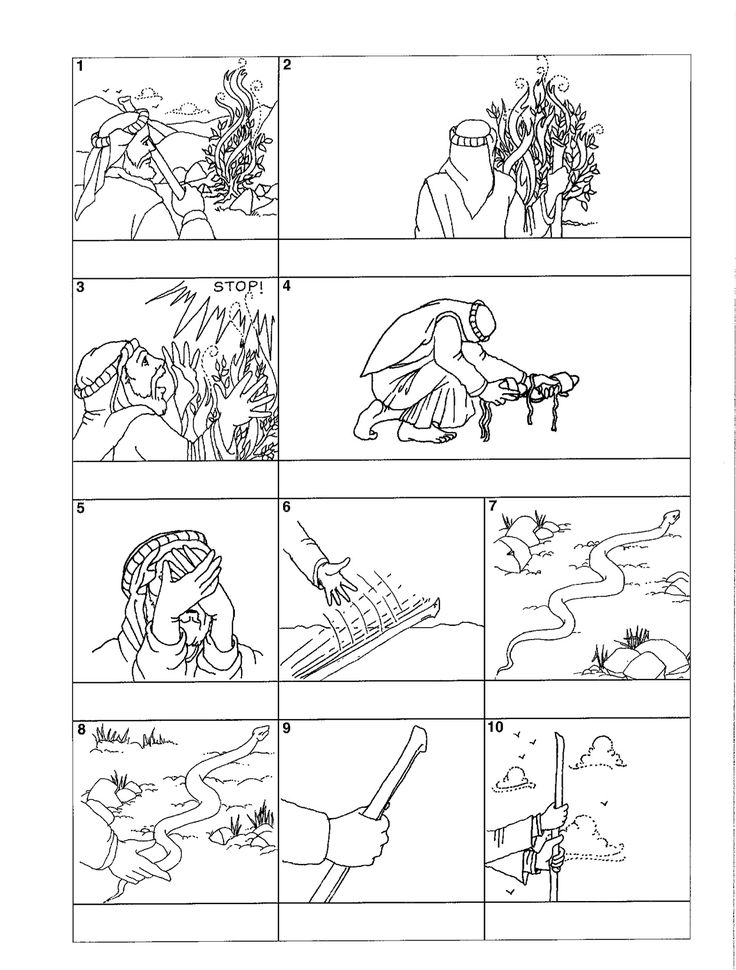 Bible story coloring pages Moses