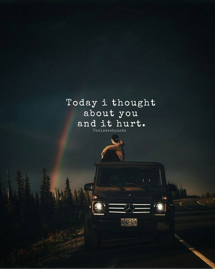 Today i thought about you and it hurt. . @lennart . #thelatestquote #quotes