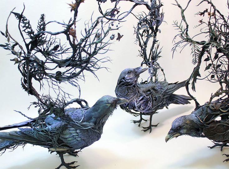 Мифические глиняные скульптуры Эллен Джеветт