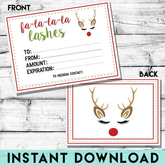 Rodan And Fields Christmas 2020 Rodan and Fields Holiday Lash Cash INSTANT DOWNLOAD | Etsy in 2020