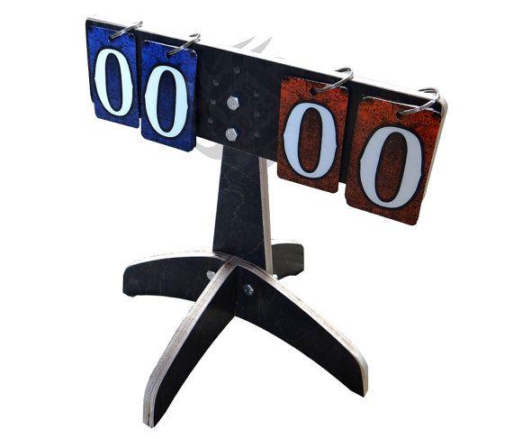Compact Flip Style Score Pod - cornhole, bag toss, washer games, baggo, darts