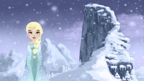 Illustration: Elsa from Frozen | Hooby Groovy