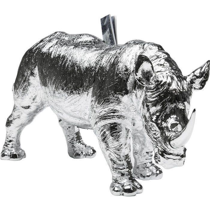 Διακοσμητικός Κουμπαράς Rhino Chrome
