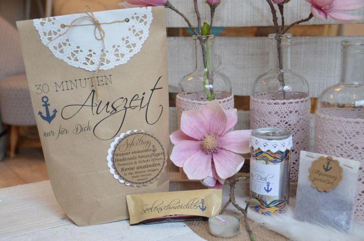 Wellness in der Tüte Auszeittüte Geschenk von Majalino auf DaWanda.com