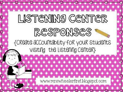 Mrs. Wheeler's First Grade Tidbits: Keeping it Old School with a Listening Center!  free