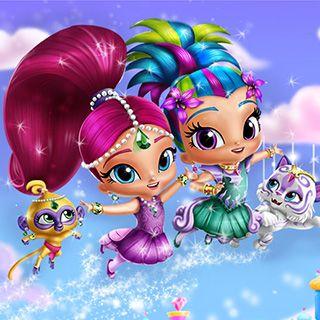 Shimmer and Shine Dress Up: Shimmer e Shine precisam de sua ajuda e você deve se juntar a elas imediatamente. Você sabe o que fazer! Crie looks fabulosos, com acessórios elegantes e penteados estilosos. Você pode deixar as gêmeas com visuais ainda mais semelhantes ou completamente diferentes.