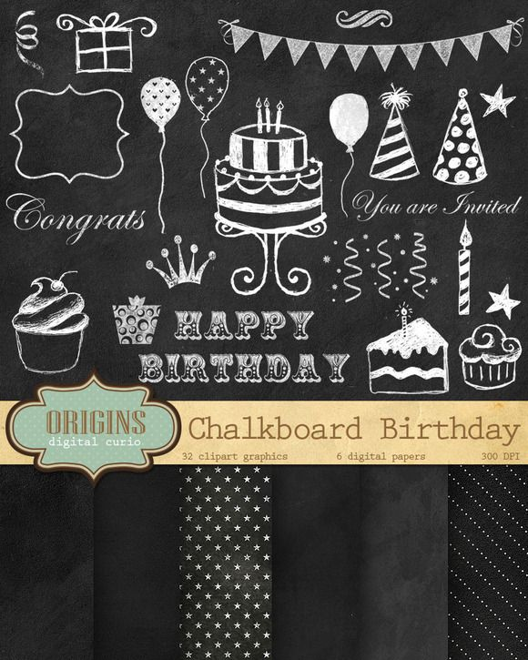 42 best Birthday Invitation Templates images on Pinterest - chalk board invitation template