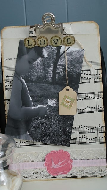 This is cute. But....   I am thinking this idea but in a frame w the music from our wedding