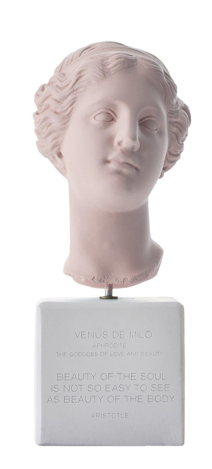 Venus Bust. Statue. Material 100% Ceramine. Color: Vintage Pink.