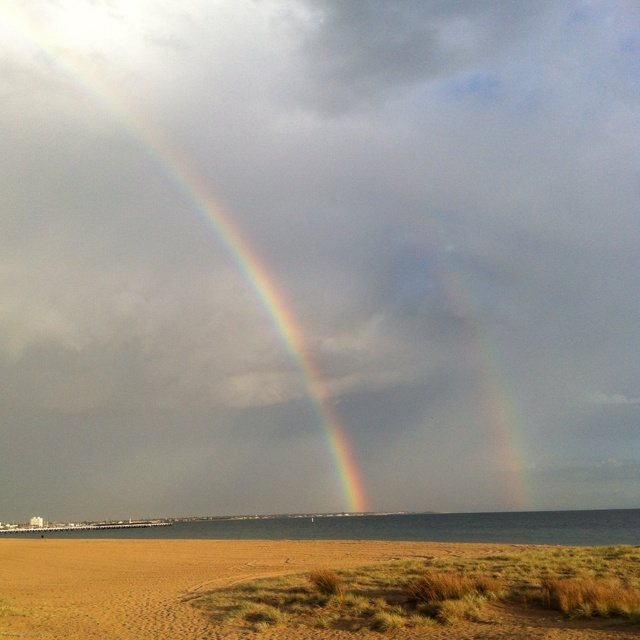 Rainbow - South Melbourne beach, I can walk here in 1/2 hour!