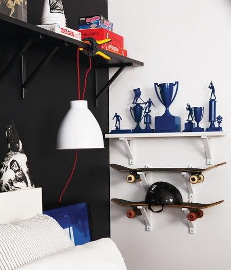 Contemporary Sports-Themed Vignette // Photographer Kim Jeffery // House & Home June 2011 issue