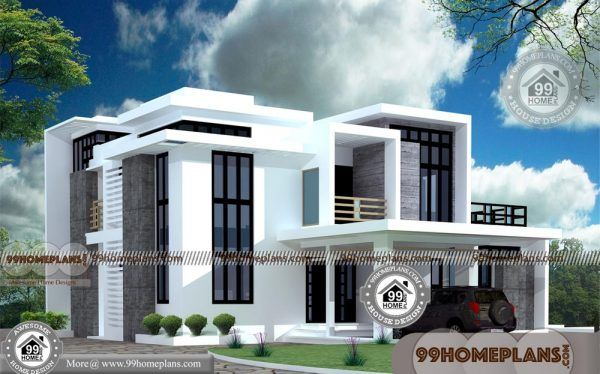 Box Shaped House Designs Double Floored Structural Home Collections House Plans With Pictures House Design 2 Storey House Design