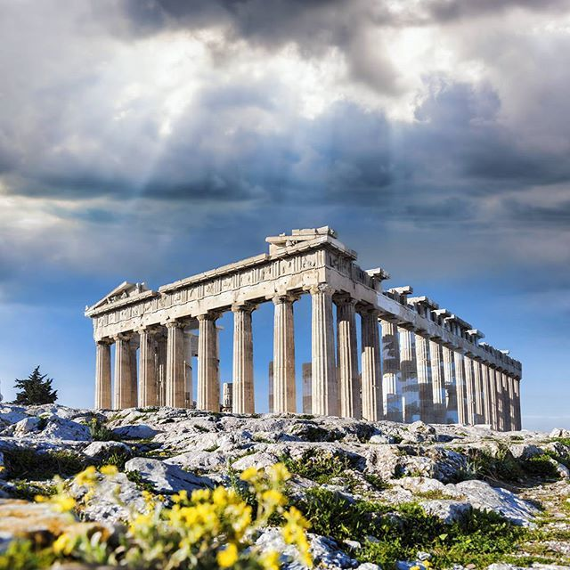 #Famous #Acropolis with #Parthenon temple in #Athens #Greece