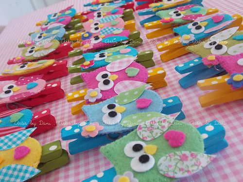 Clothespin owls by Artes by Dani