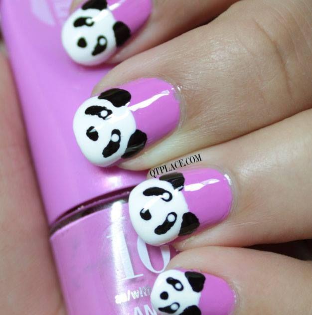 Panda Nail Art: Pink And Pandas