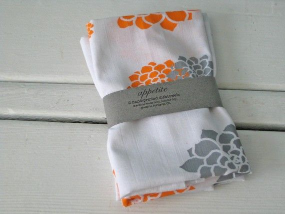 Set Of Two Flour Sack Towels $16 From Etsy