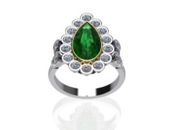 Emerald pear shaped stone with brilliant rounds cut diamonds! Absolutily lovely  www.jewellerybyliamross.com