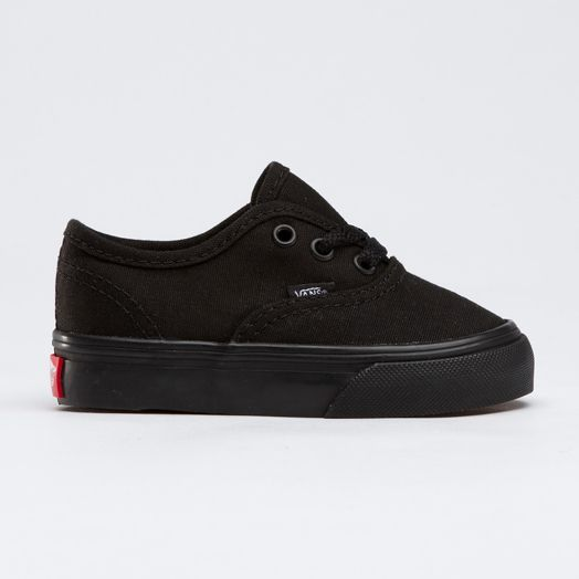 Black on black Vans for toddlers. These look like the black PF Flyers from the movie Sandlot. So cute!