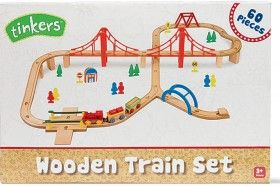 Tinkers 60 Piece Wooden Train Set