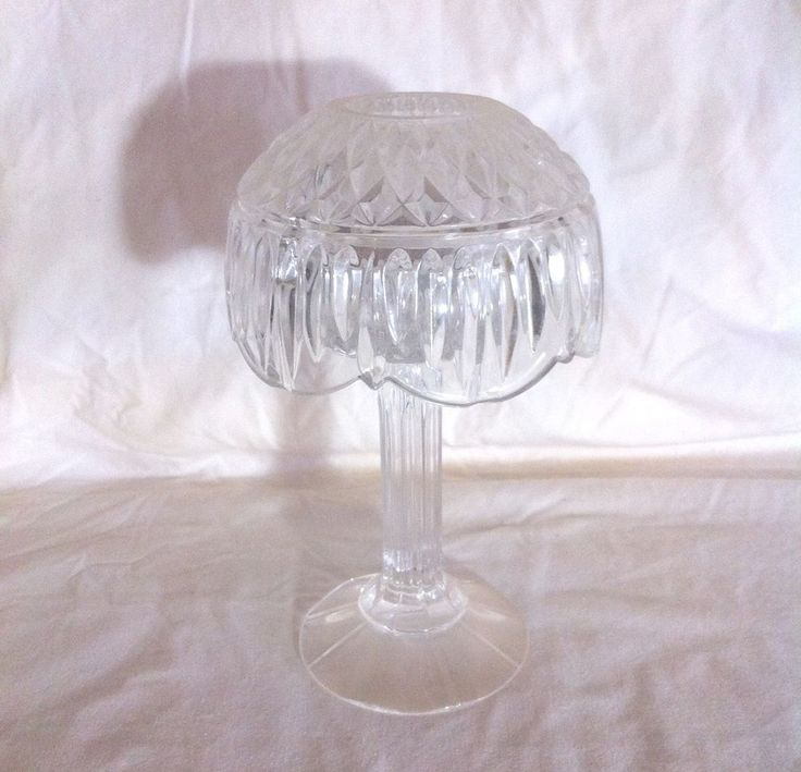 Shannon Crystal by Godinger Retro Candle Lamp Violet Holder Lead Crystal 2 pc #Lamp