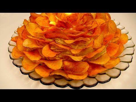 САЛАТ С ЧИПСАМИ Вкусные салаты рецепты САЛАТ РОЗА с копченой курицей - YouTube