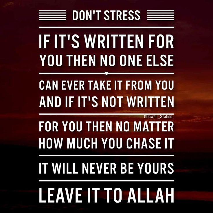Leave it to Allah #tawakkul