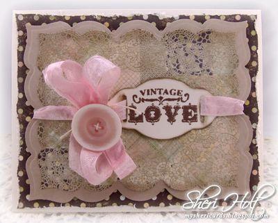 Sheri Holt Vintage Love Card